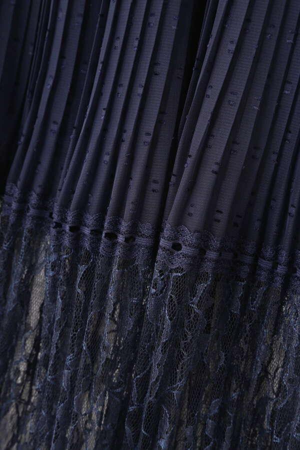 【追加生産予約5月下旬-6月上旬入荷予定】レース切替ギャザースカート