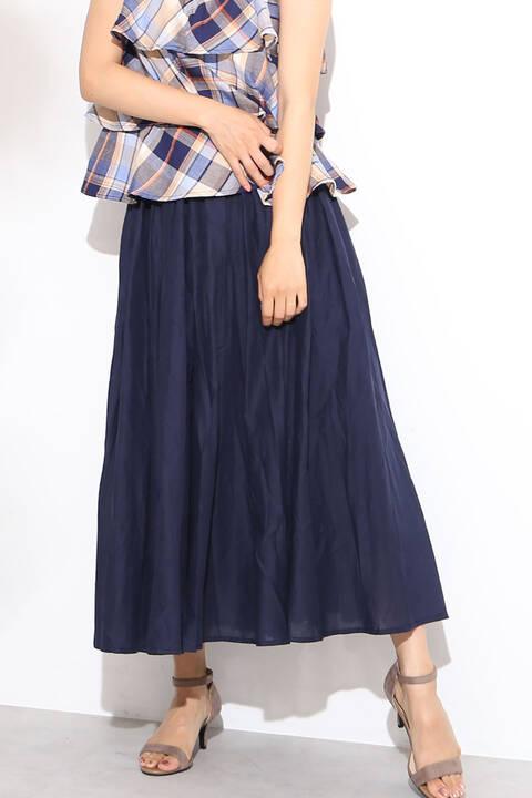 コットンボリュームマキシスカート