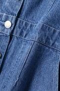 【andGIRL3月号中村アン着用】デニムジャンパースカート