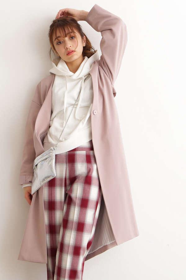 【美人百花3月号岸本セシル着用】Vネックノーカラーコート