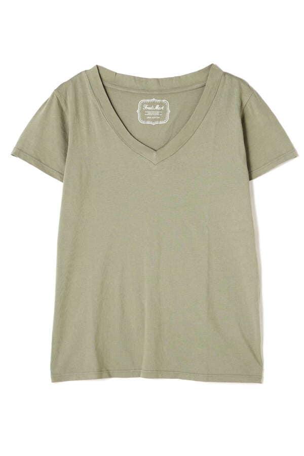 USAコットンシリコンバイオVネックTシャツ