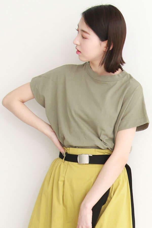 【otonaMUSE4月号浅見れいなさん着用】USAコットンシリコンバイオクルーネックTシャツ