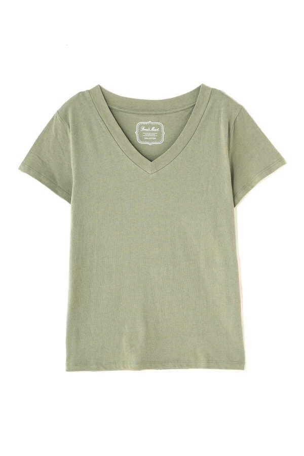 USAコットンVネックTシャツ