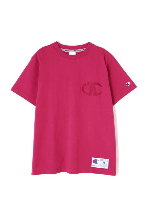 《Champion》カットソー同色ロゴTシャツ