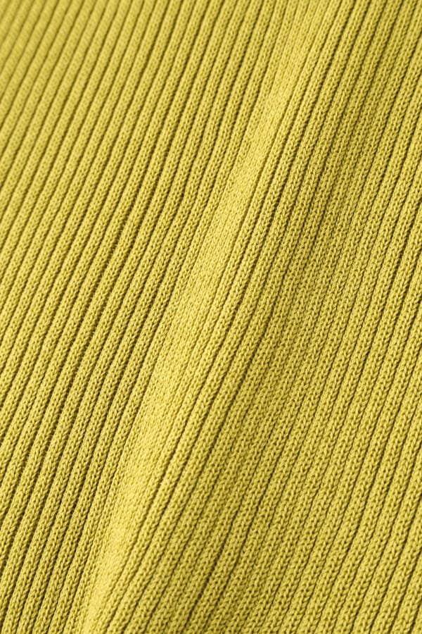 スカラトリム半袖リブニット