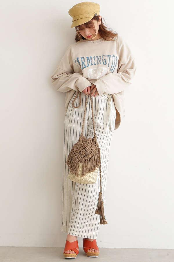 【sweet3月佐藤栞里さん着用】【美人百花3月号岸本セシル着用】マクラメかごバッグ
