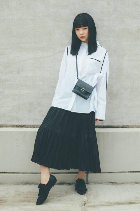 〔田中芽衣監修〕バイカラーテープシャツ