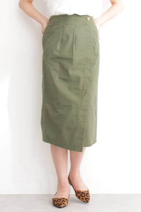 深スリットチノタイトスカート