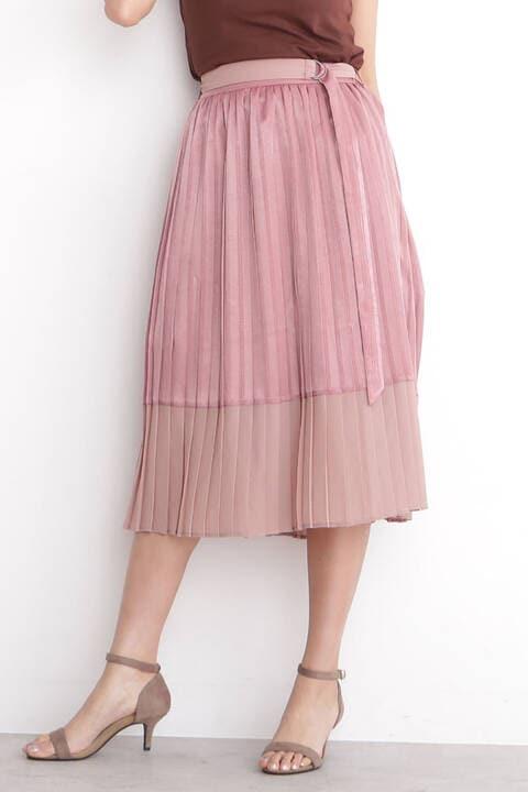異素材MIXプリーツスカート