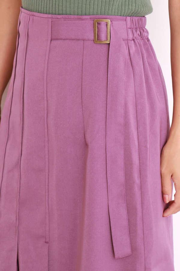 タックプリーツAラインラインスカート