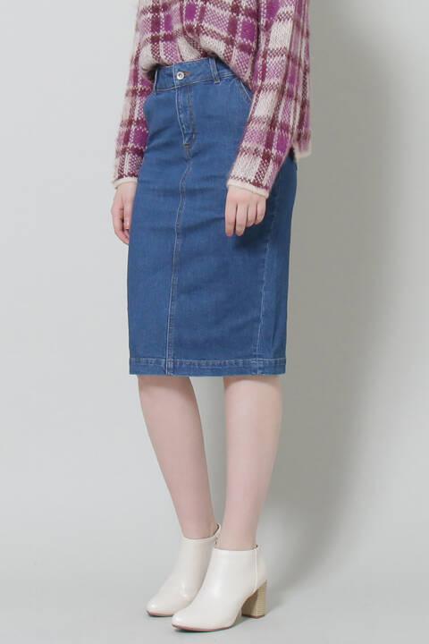 【先行予約9月下旬-10月上旬入荷予定】デニムタイトスカート