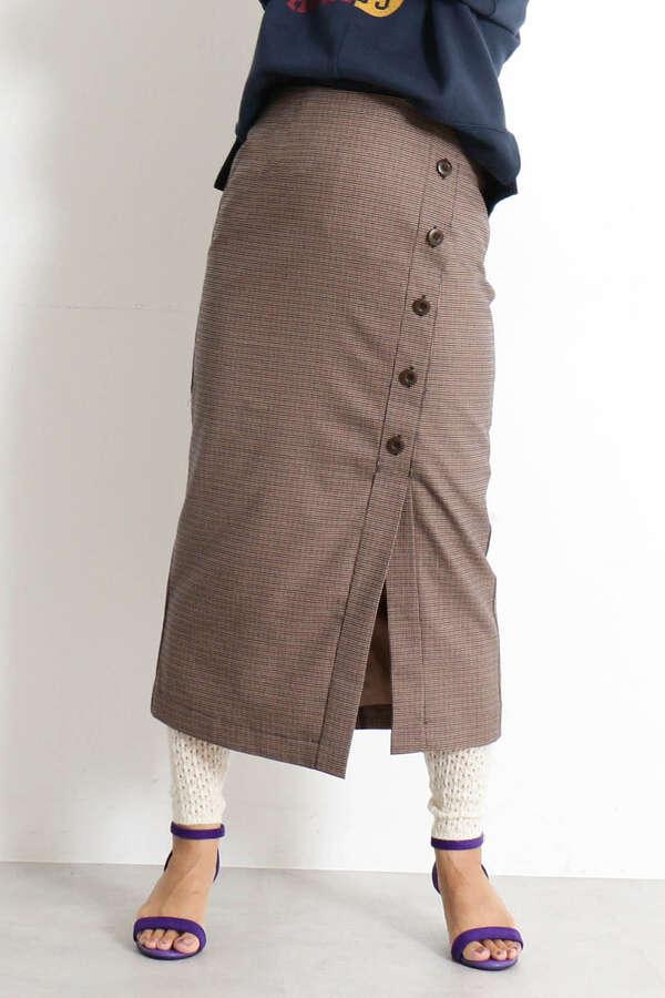 【先行予約9月中旬-9月下旬入荷予定】スリット釦ガンクラブペンシルスカート