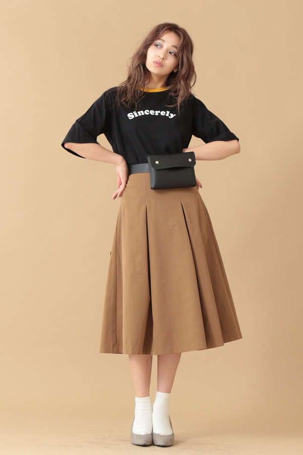 【先行予約10月下旬-11月上旬入荷予定】ボックスタックフレアスカート