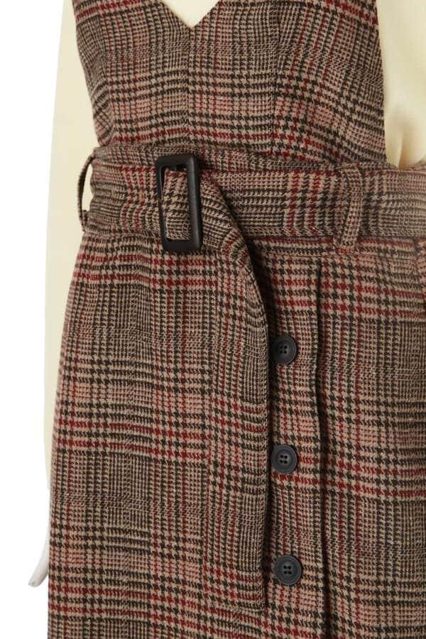 2Wayチェック柄ジャンパースカート