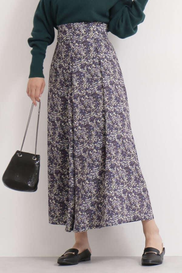 ぼかし小花柄ロングスカート