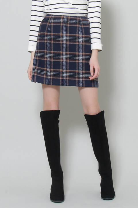 シャギー台形スカート