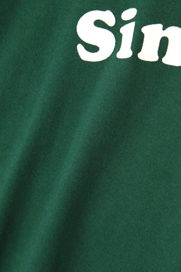五分袖ロゴリンガーTシャツ