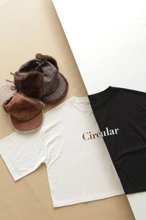 五分袖ボーイズロゴTシャツ