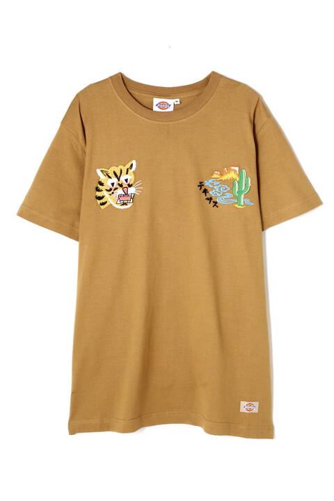 《Dickies》 スーベニア刺繍Tシャツ