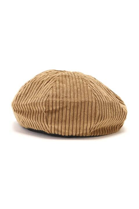 太コーデュロイパイピング付ベレー帽