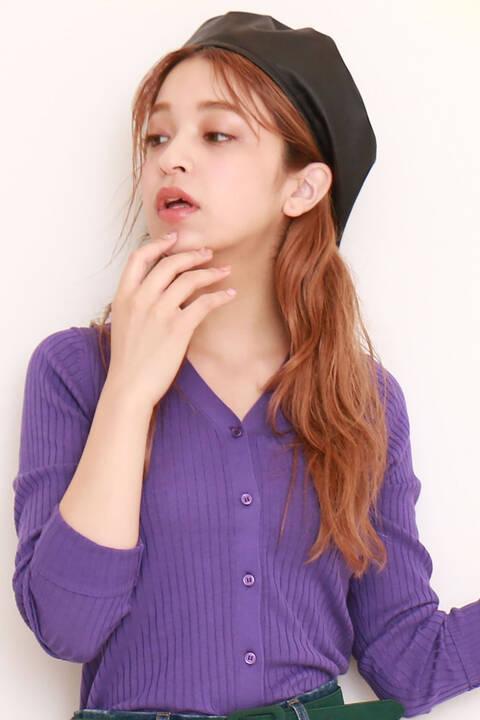 合皮ベレー帽