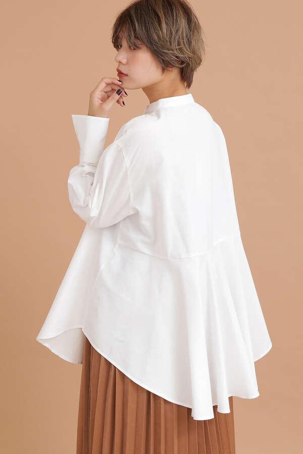 スタンドカラーチュニックシャツ