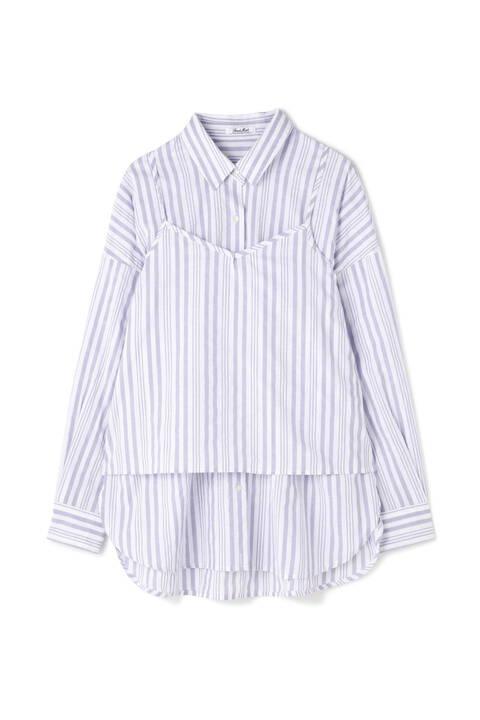 アンサンブル抜き襟シャツ