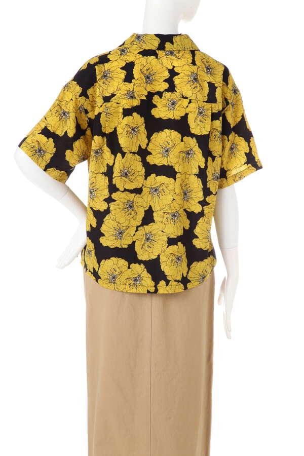 花柄開衿シャツ