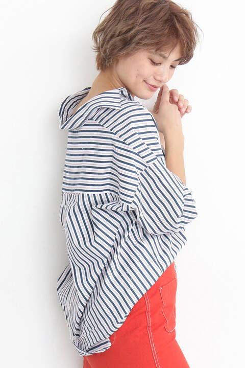《杉本美穂着用》スキッパーチュニックシャツ
