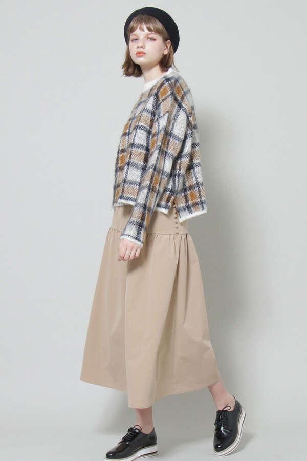 【先行予約1月中旬-1月下旬入荷予定】ヨーク切替ギャザーロングスカート