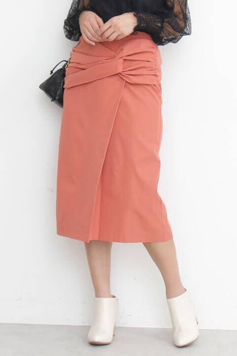 【先行予約2月中旬-2月下旬入荷予定】フロントツイストタイトスカート