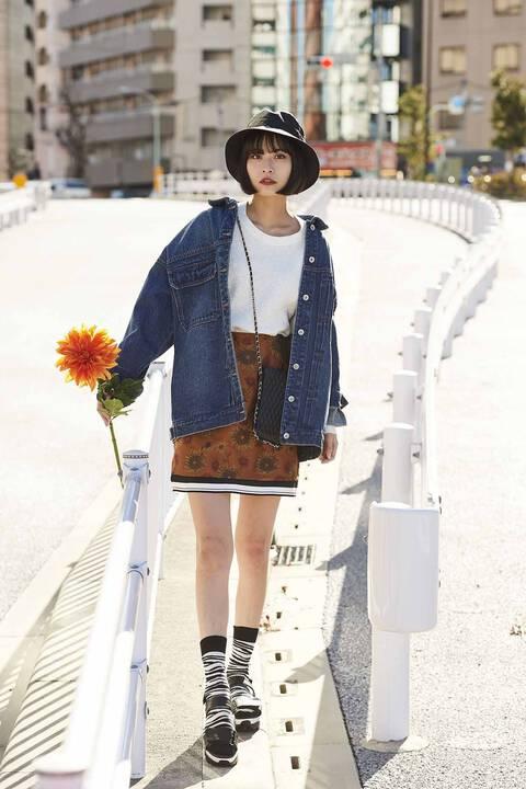 【先行予約2月中旬-2月下旬入荷予定】ジャガード裾リブミニスカート