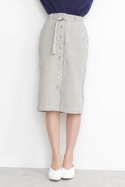 《Emma着用》フロントボタンペンシルスカート