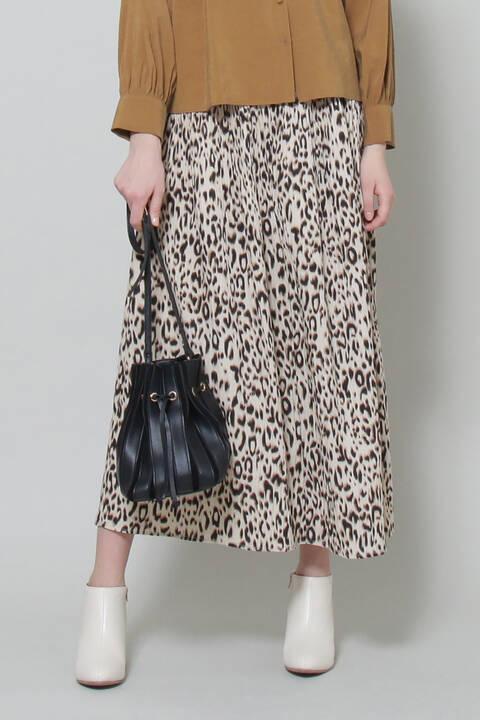 レオパードギャザースカート