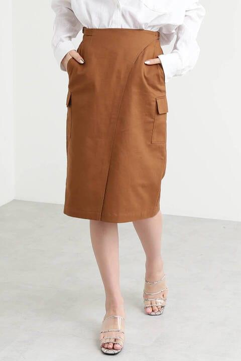 【先行予約3月中旬-3月下旬入荷予定】カーゴポケットペンシルラップスカート
