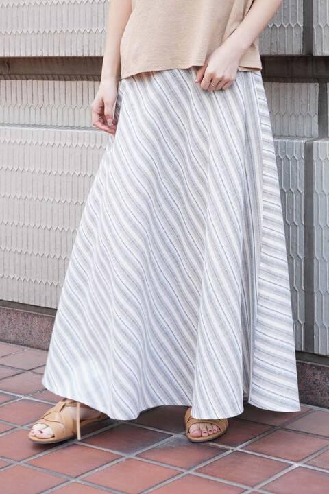 【先行予約5月中旬-5月下旬入荷予定】バイヤスストライプスカート