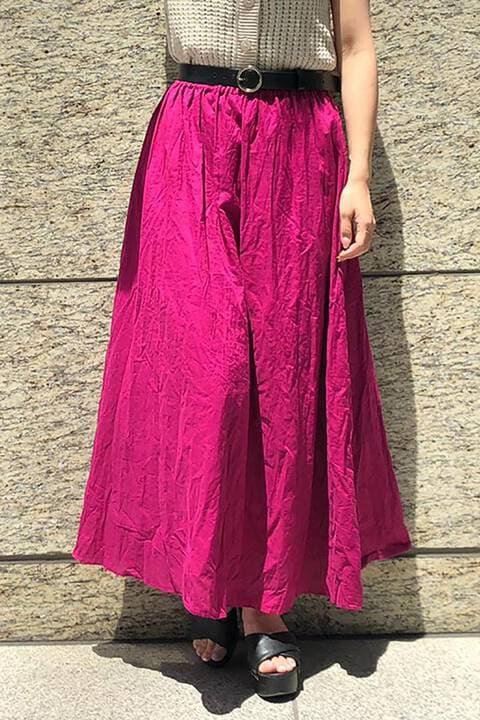 コットンローンギャザーロングスカート