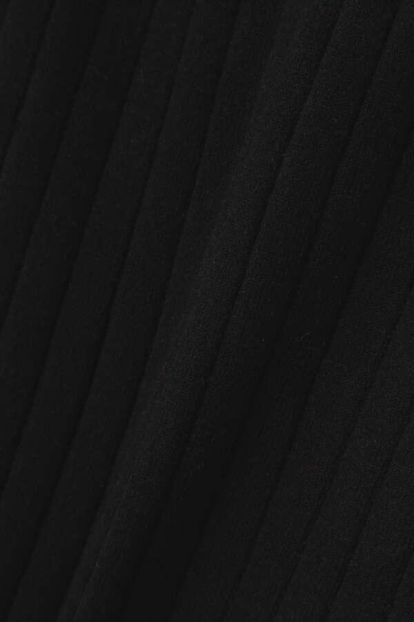 【追加生産予約1月上旬-1月中旬入荷予定】ストレッチリブブラウジングハイネックワンピース