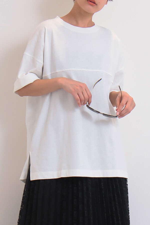 カルフォルニアコットンルーズネックTシャツ