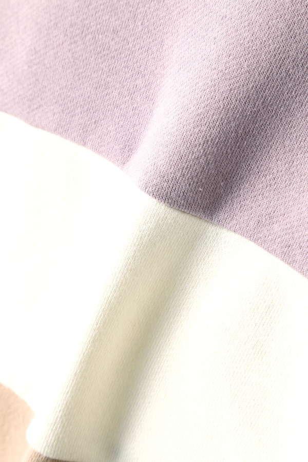 カラーブロッキングショートスウェット