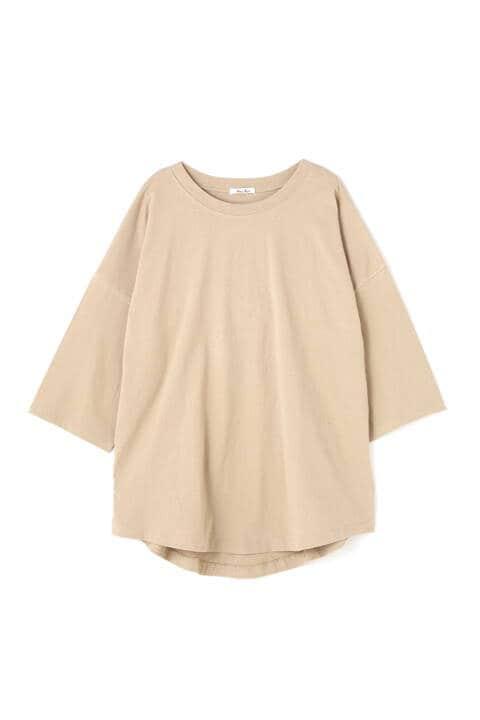 バックロゴプリントチュニックTシャツ