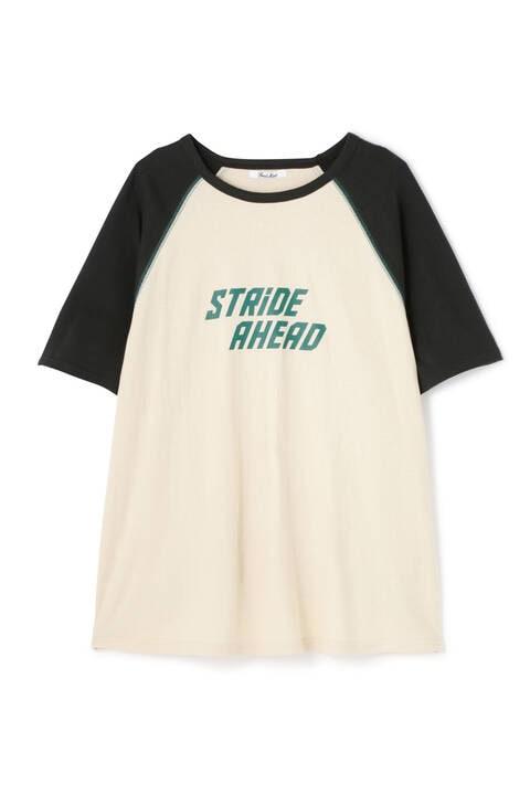 配色ステッチ ラグランロゴTシャツ