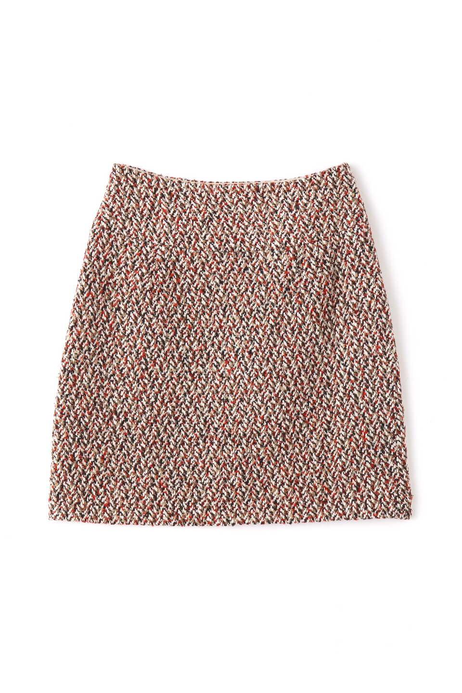 【公式/フリーズマート】ツイード台形ミニスカート/女性/スカート/レッド/サイズ:S/(表生地)ポリエステル 66% コットン 21% レーヨン 7% 毛 3% ナイロン 2% アクリル 1%(裏生地)ポリエステル 100%
