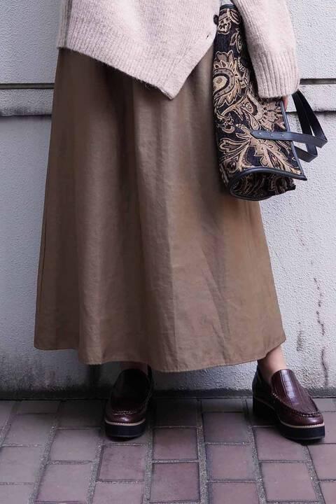 【先行予約11月中旬-下旬入荷予定】シャーリングギャザースカート