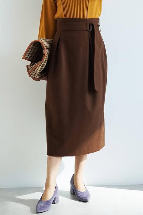 【先行予約11月中旬-下旬入荷予定】コクーンタックナロースカート