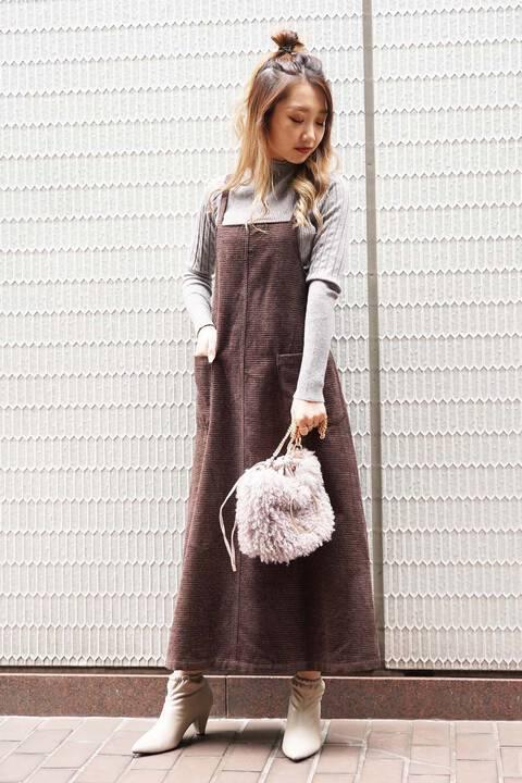 【先行予約10月下旬-11月上旬入荷予定】モールチェックジャンパースカート