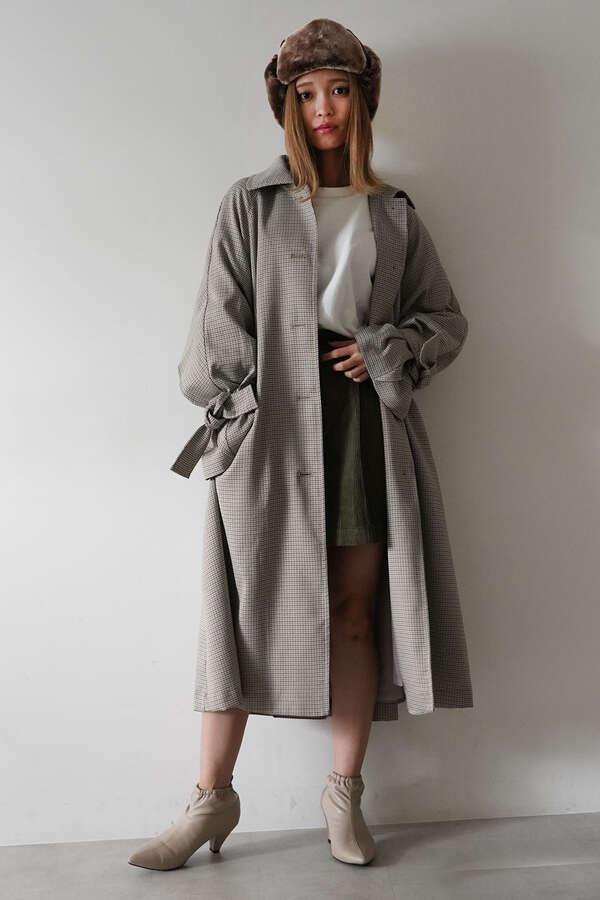 ヨークフレアラインステンカラーコート