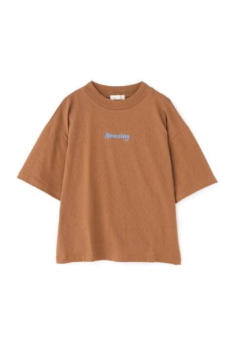 ハイネックロゴTシャツ