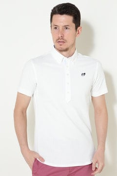 ファインクール ニットサッカー ボタンダウンシャツ(MENS)