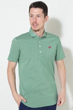 シャドーストライプ ストレッチポロシャツ(MENS)